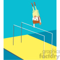olympic gymnastics games character illustration
