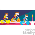 olympic cycling bikes illustration