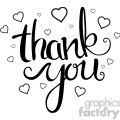 thank you script calligraphy typography