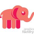 Pink Elephant vector image RF clip art