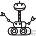 robot space rover vector icon  gif, png, jpg, eps, svg, pdf