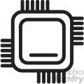 cpu computer chip vector icon
