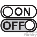 on off vector icon