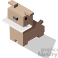 dog with mail in its mouth vector icon