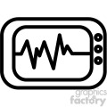 ekg machine vector icon  gif, png, jpg, eps, svg, pdf