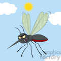 royalty free rf clipart illustration mosquito cartoon character flying vector illustration with background gif, png, jpg, eps, svg, pdf
