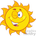 winking sun cartoon mascot character vector illustration isolated on white background  gif, png, jpg, eps, svg, pdf