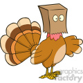 turkey bird hiding under a bag vector illustration isolated on white  gif, png, jpg, eps, svg, pdf