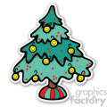 christmas tree sticker v2  gif, png, jpg, eps, svg, pdf