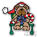 christmas teddy bear sticker