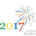 2017 typography fireworks celebration vector art  gif, png, jpg, eps, svg, pdf