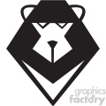 cartoon squre lion head svg cut file