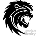 lion head roaring svg cut file