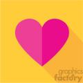 heart flat design vector icon art