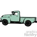 ocean green old 1954 vintage pickup truck profile vector image