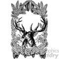 vintage deer in the woods vector vintage 1900 vector art GF