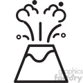 vector volcano cartoon icon svg cut file