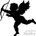 vector cupid silhouette svg cut file