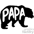 papa bear stencil vector svg cut files