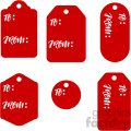 to from gift tags svg files dxf vector christmas tag