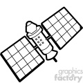 space low earth orbit satellite svg cut file vector