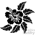 hibiscus vector svg cut file