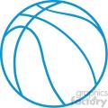 basketball outline vector svg cut file