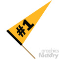 sports flag pennant number one  gif, png, jpg, eps, svg, pdf