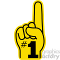 yellow number one hand vector clip art