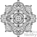 mandala geometric vector design 005