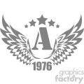 a wings 1976 vector logo template