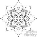 mandala geometric vector design 014