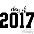 class of 2017 cut file vector clip art image