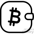 bitcoin cryptocurrency wallet icon