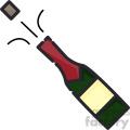 Bottle popping clip art vector images