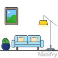 Couch clip art vector images
