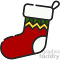 christmas stocking vector icon