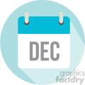 december calendar vector icon