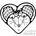 cartoon clipart mouse 003 bw