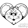cartoon clipart mouse 005 bw