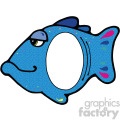cartoon fish with cut out frame