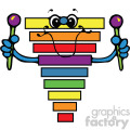 cartoon xylophone vector art