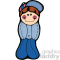 cartoon doll boy wearing blue