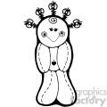black and white vodoo doll cartoon