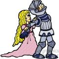 knight with princess cartoon art