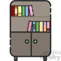 bookshelf vector royalty free icon art