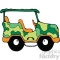 camo jeep cartoon