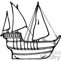 black white ship