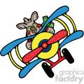 kangaroo flying a plane