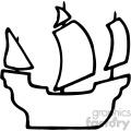 black white pirate ship silhouette